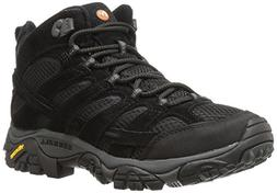 Merrell Men's Moab 2 Vent Mid Hiking Boot, Black Night, 8 M