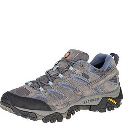 Merrell Women's Moab 2 Waterproof Hiking Shoe, Granite, 9.5
