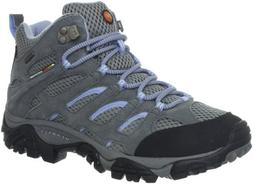 Merrell Women's Moab Mid Waterproof Hiking Boot,Grey/Periwin