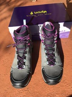 Ahnu Montara Waterproof Leather Womens Hiking Boots 10.5 Gre