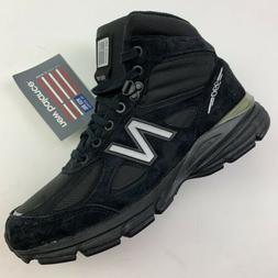 NEW New Balance 990v4 Men's Black Mid Boots Shoe MO990BK4 Ma