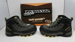 New Men Gray Skechers For Work Surren Steel Toe WP 77081/GRY