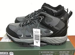 NEW KHOMBU Men's All Terrain Leather Hiking Boots Shoes -PIC