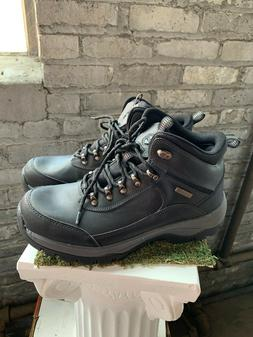 NEW Khombu Men's Boots Summit Black Leather Hiking Outdoor W