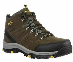 NEW MEN SKECHERS RELAXED FIT WATERPROOF HIKING / WORK BOOT R
