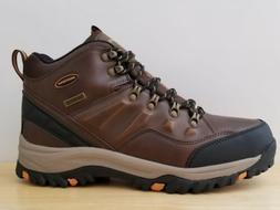 New Skechers Mens Relment Traven Dkbr Hiking Boots Size 10