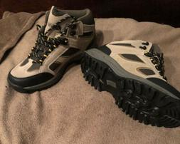 NEW Denali Mens Sz 8.5 Hiking Boots Brown Mid Top Lace Up Sh