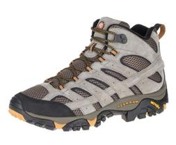 NEW Mens MERRELL Walnut  MOAB 2 MID VENTILATOR Hiking Boots