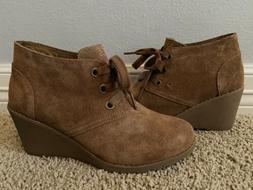 New Skechers Women's Tumble Weed Ghost Town Brown Suede Hi