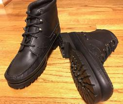 "NWOB! Wms RALPH LAUREN 5"" Rugged Hiking/Chukka BOOT Black Le"