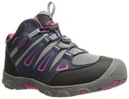 KEEN Oakridge Mid WP Hiking Shoe , Dress Blue/Very Berry, 3