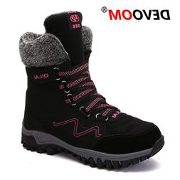 Outdoor Shoes Women Winter Hiking Shoes Warm Snow Ankle <fon