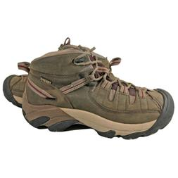 Keen Purple Brown Leather Mid Hiking Boots Women's Size 9