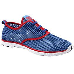 ALEADER Men's Quick Drying Aqua Water Shoes Red 10 D US