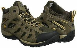 Columbia Men's Redmond Mid Waterproof Trail Running Shoe,Peb