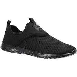 ALEADER Men's Slip-on Athletic Water Shoes All Black 11.5 D