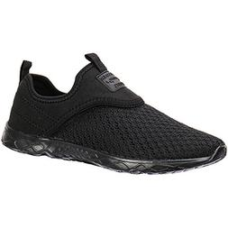 ALEADER Men's Slip-on Athletic Water Shoes Black/Blk 8 D US