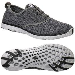 ALEADER Men's Stylish Quick Drying Water Shoes Gray 8.5 D US