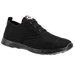 ALEADER Men's Stylish Quick Drying Water Shoes All Black 9.5