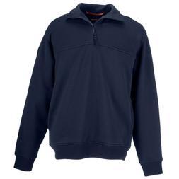 5.11 Tactical Tall 1/4 Zip Job Shirt, Fire Navy, 5X-Large
