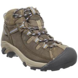 KEEN Women's Targhee II Mid Waterproof Hiking Boot,Gargoyle/