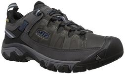 KEEN Men's Targhee iii Leather wp-m Hiking Shoe, Steel Grey/