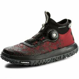 Under Armour UA Fat Tire 2 BOA Hiking Boots Shoes Red Black