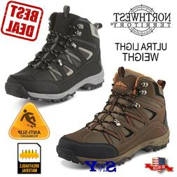 ULTRA LIGHT Hiking Trail Boots Cushioned Lace up HIKER boot
