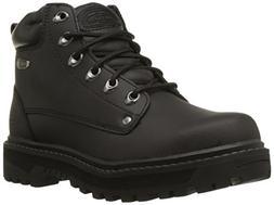 Skechers Men's Pilot Lace Up Leather Medium/Wide Boots  - 11