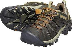KEEN Men's Voyageur Trail Shoe,Black Olive/Inca Gold,16 M US