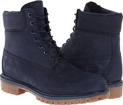 Timberland Mens 6 Inch Premium Waterproof Boots, Navy, 10 D