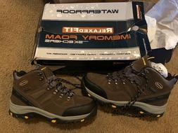 Skechers -Waterproof Men's Hiking Boots Khaki- Size 12- Rela