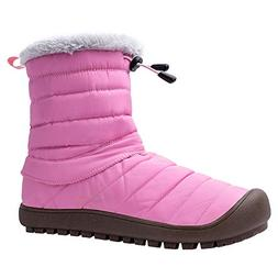 ALEADER Women's Waterproof Winter Ankle Snow Boots Pink 8-8.