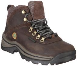TimberlanD Women's White LeDge MiD Ankle Boot,Dark Brown,8 M