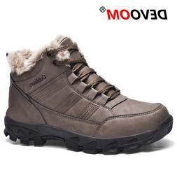 Winter Outdoor Waterproof Hiking Shoes Men Leather Tactical