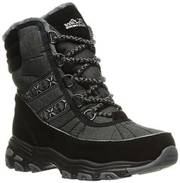 Skechers Women's D'Lites-Chateau-Lace up Winter Boot,Black H