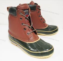 Women's Duck Boots Leather Insulated Waterproof Hiking Winte