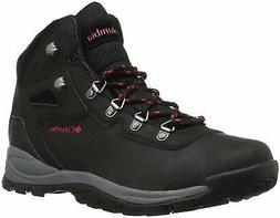 Columbia Women's Newton Ridge Plus Hiking Boot, Black/Poppy