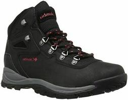 Columbia Women's Newton Ridge Plus Hiking Boot, Black/Poppy