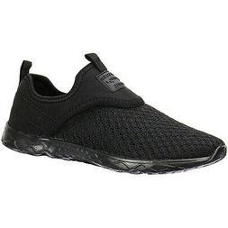 ALEADER Women's Slip-on Athletic Water Shoes Black/Black 8.5