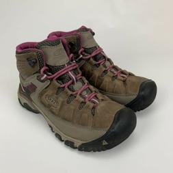 KEEN Women's Targhee III WP Hiking Boots Shoe Brown Weiss/Bo