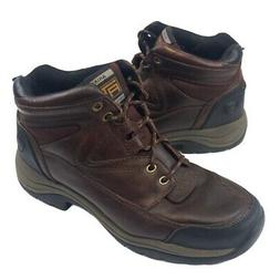 Ariat Womens ATS Hiking Boots Brown Black Leather Lace Up 9