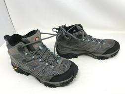 Womens Merrell  Moab 2 Mid Waterproof Gray/blue hiking boots