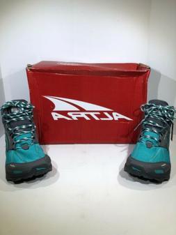 Altra Womens Size 10 Lone Peak Mdm 4 Teal/Gray Hiking Shoes
