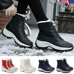 ✅Womens Snow Hiking Boots Fur Winter Warm Outdoor Shoes La