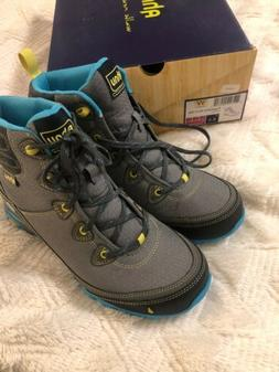 Ahnu Womens Sugarpine WP Dark Grey Hiking Boots  Size 8.5