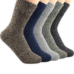 Zando Womens Vintage Casual Thick Knitting Wool Socks Winter
