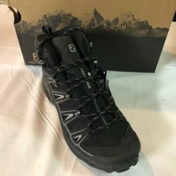 Salomon Men's X Ultra Mid 2 GTX-M, Black/Aluminum, 7 M US
