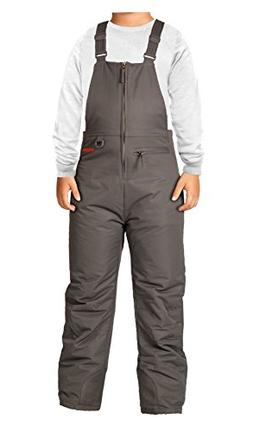 Arctix Youth Insulated Overalls Bib, Small, Charcoal