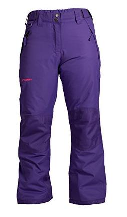 Arctix Youth Snow Pants with Reinforced Knees and Seat, Purp